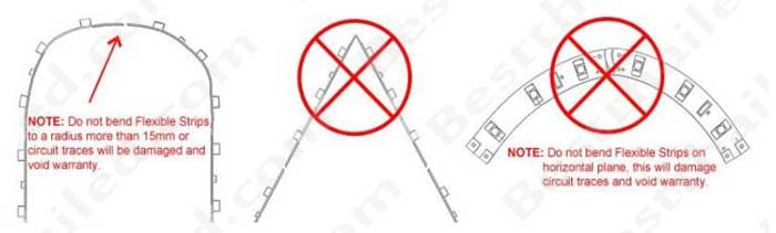 ไฟเส้น ไม่ควรหักซ้ายขวาในมุม 90 องศา